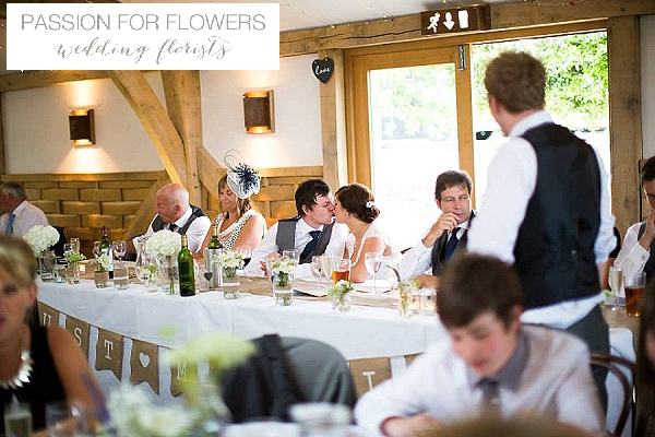 Cripps Barn Wedding Flowers  Top Table
