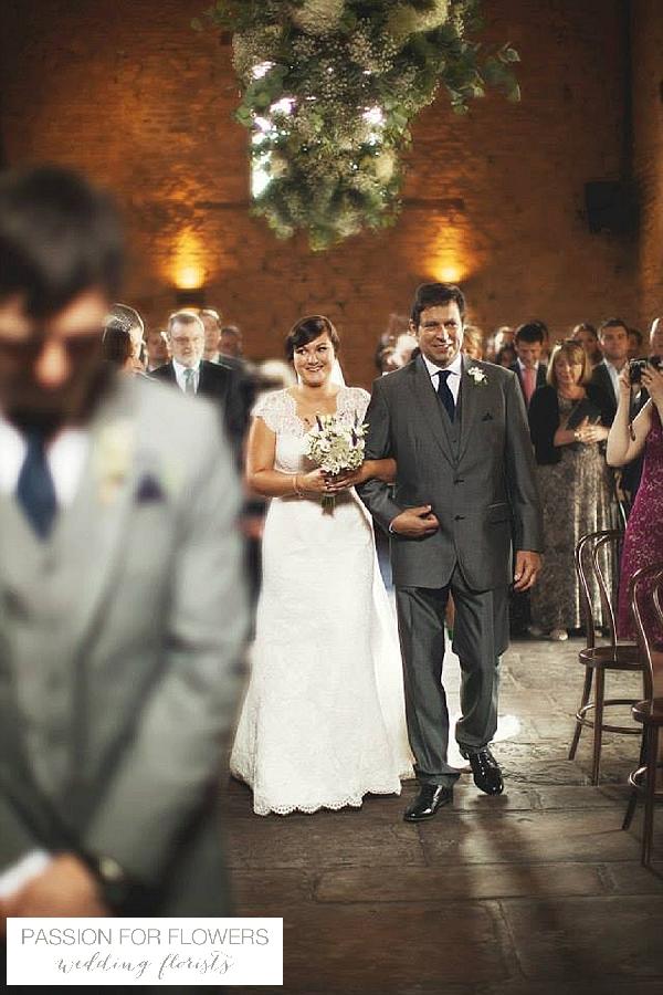 Cripps Barn Wedding Ceremony Flowers
