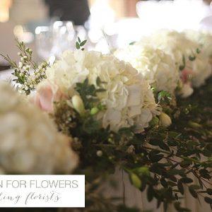 Dumbleton Hall Wedding Top Table Flowers