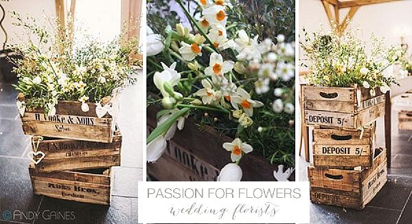 Mythe Barn Wedding ceremony Flowers