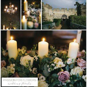 Warwick Castle Wedding Flowers Candelabra