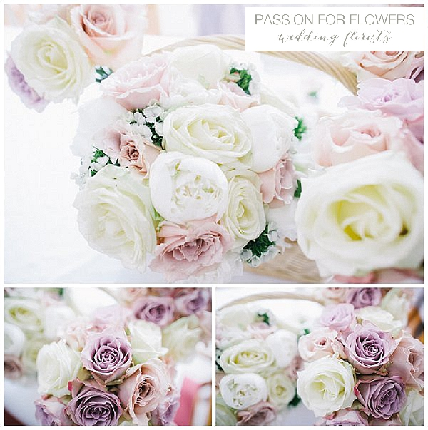Blush Pink Nude Rose Wedding Bouquets