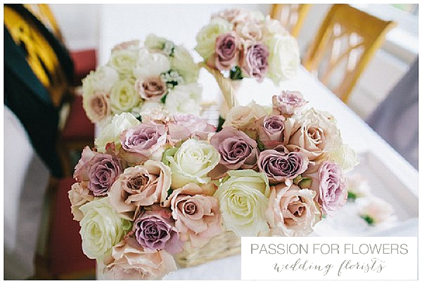 dusky pink nude roses wedding bridal bouquets