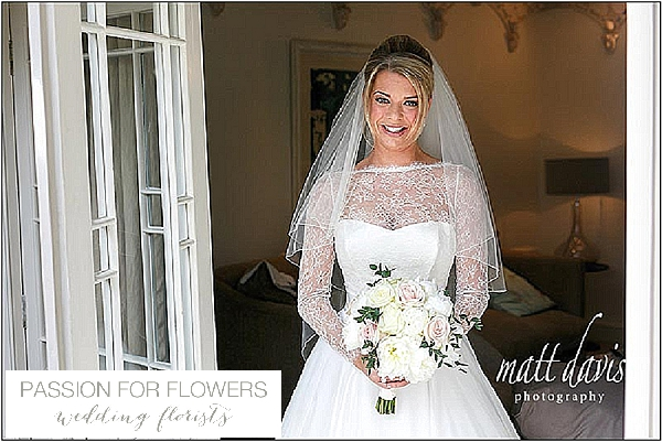 barnsley house wedding flowers white peony bridal bouquets