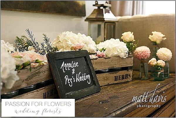 barnsley house wedding flowers welcome flowers