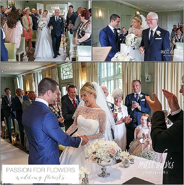 barnsley house wedding ceremony flowers