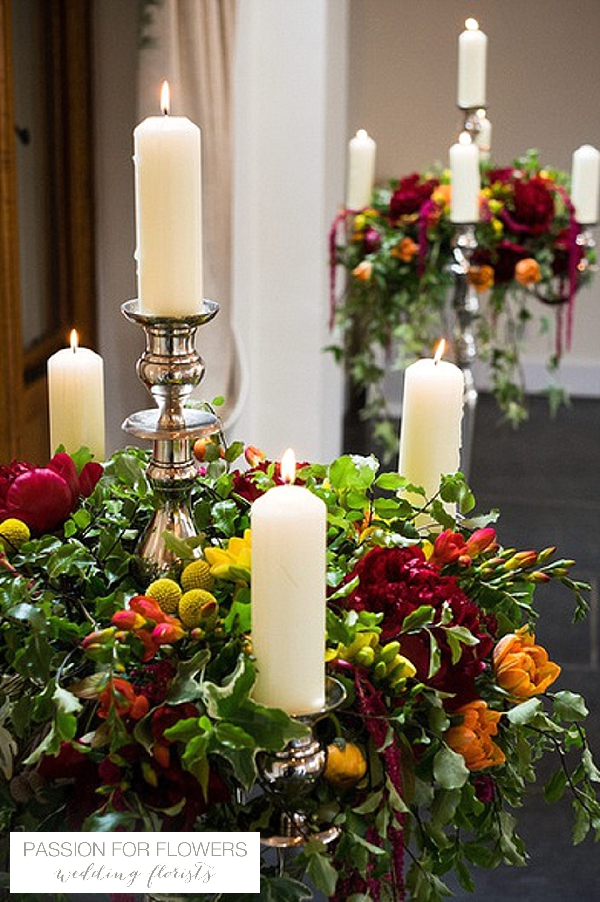 candelabra ceremony flowers indian wedding