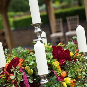 candelabra outdoor wedding ceremony wethele manor