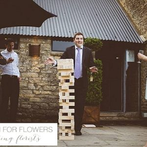 cripps barn hanging wedding flowers