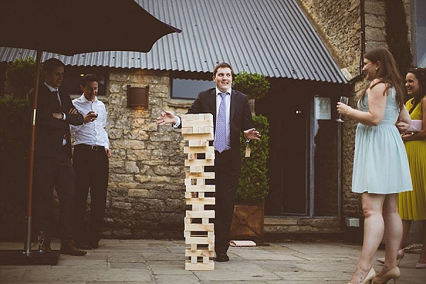 cripps barn wedding outdoor games giant jenga