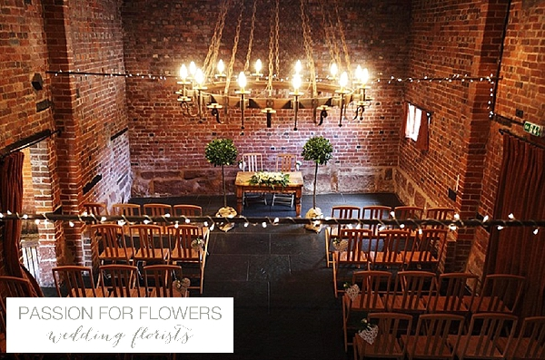 curradine barns wedding flowers ceremony