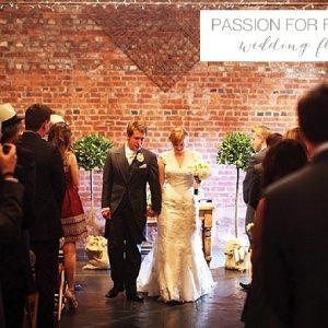 curradine barns wedding ceremony flowers