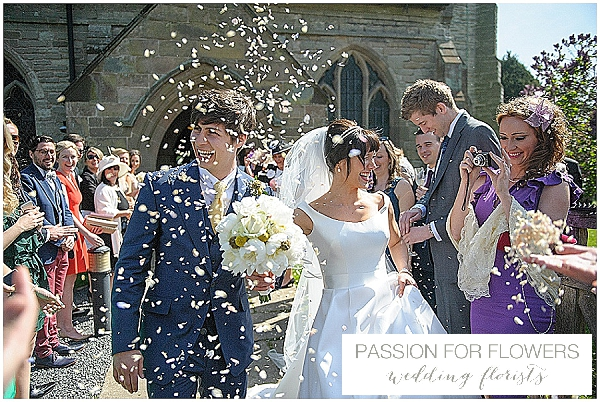 fresh petal confetti throwing