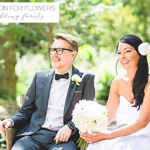 hogarths hotel wedding flowers black white