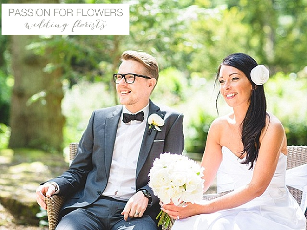 hogarths hotel wedding flowers black white