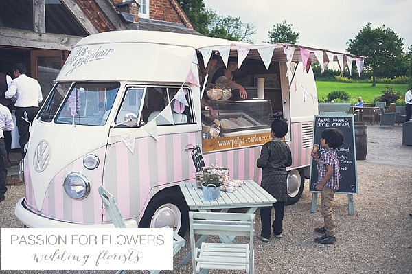 ice cream van wedding itailan wedding