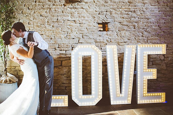 light up LOVE letters wedding