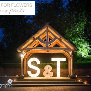 light up letters giant outdoor ceremony wethele manor (2)