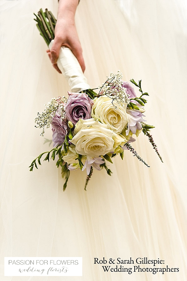 mallory court wedding   flowers purple bouquets