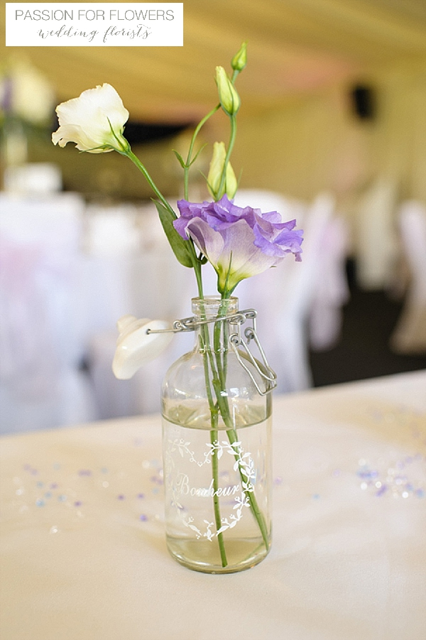 nailcote hall wedding purple flowers