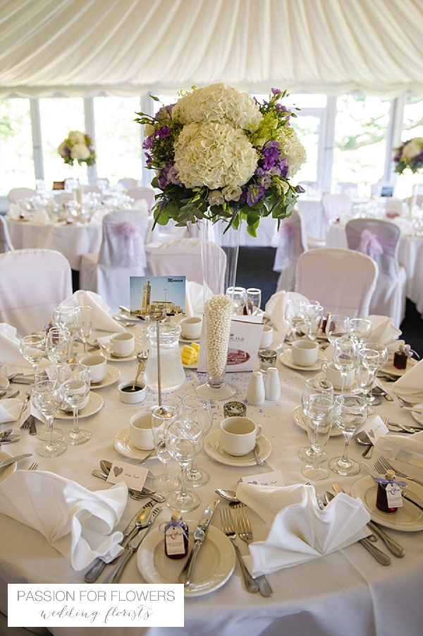nailcote hall wedding flowers tall centrepieces