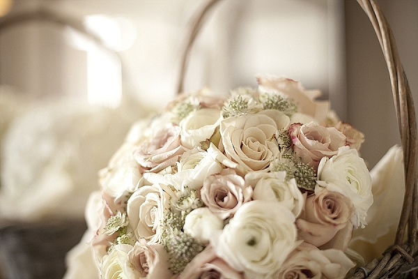 nude roses blush pink roses wedding bouquets