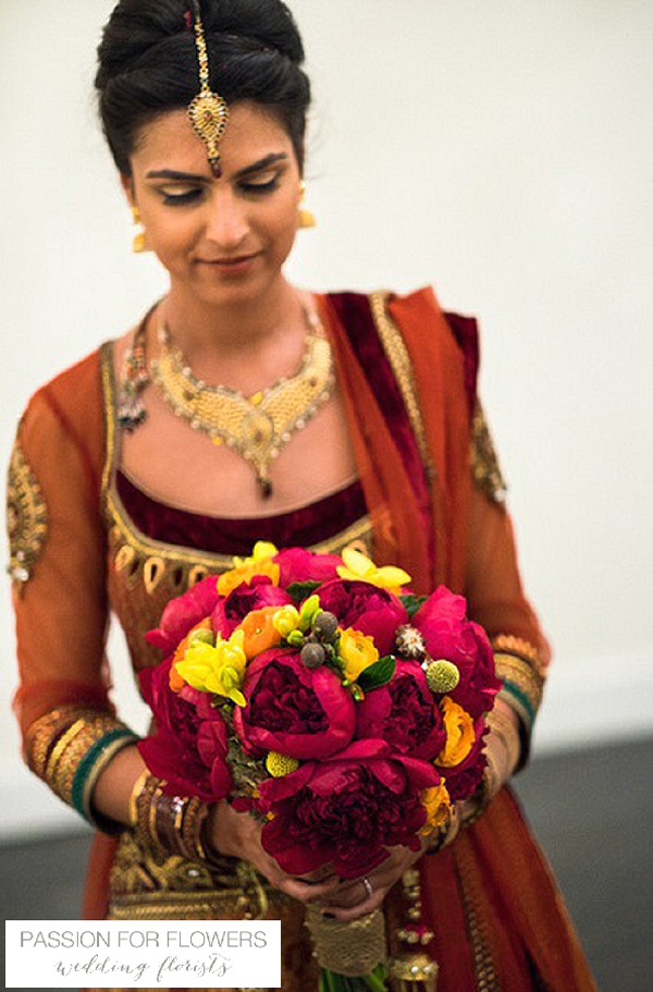 rustic indian wedding flowers