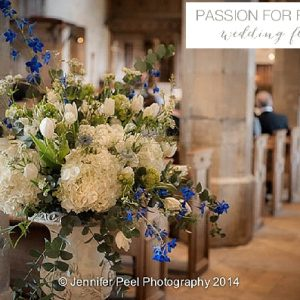 sandon hall wedding church flowers urns