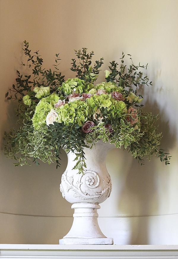 stone urns wedding flowers walton hall