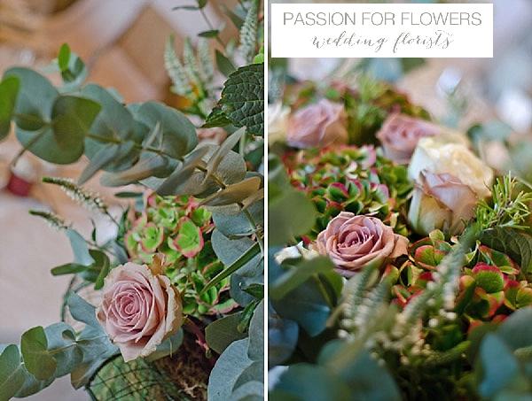 walton hall wedding dusky pink flowers