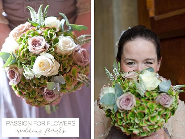 walton hall wedding  green wedding bouquets