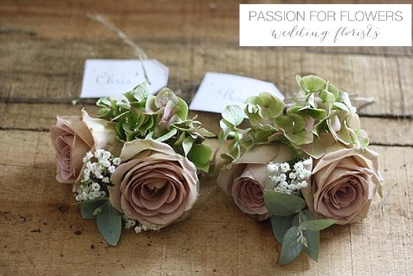 vintage rose buttonholes dusky pink amnesia