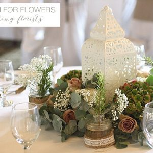 walton hall wedding centrepieces flowers