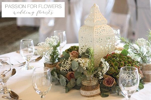 walton hall wedding centrepieces  flowers