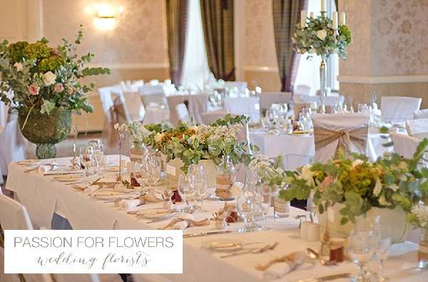 walton hall wedding top table flowers
