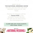The National Wedding Show Discount Code Save 30 percent Passion for Flowers Florists