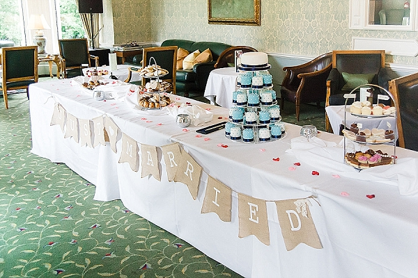 afternoon tea party wedding dessert table