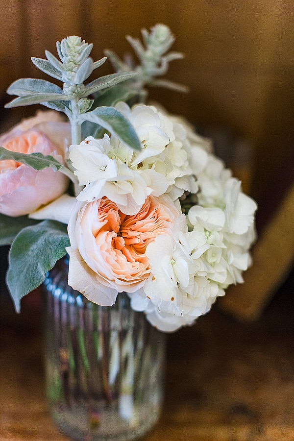 coral mint green pech wedding flowers