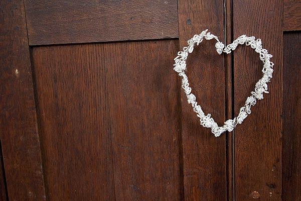 crystal hearts hanging wedding