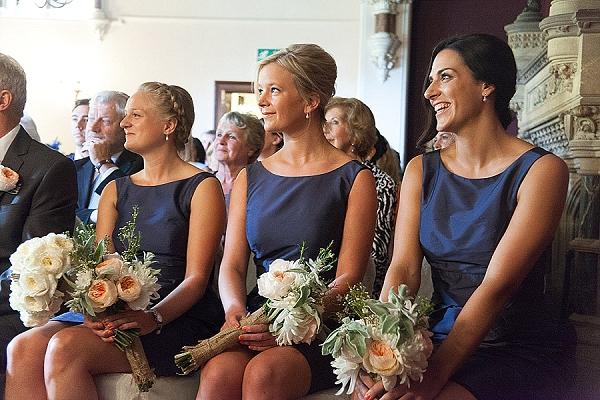 elegant bridesmaids navy blue dresses