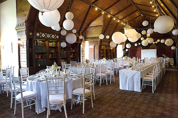 ettington park wedding hanging paper lanterns