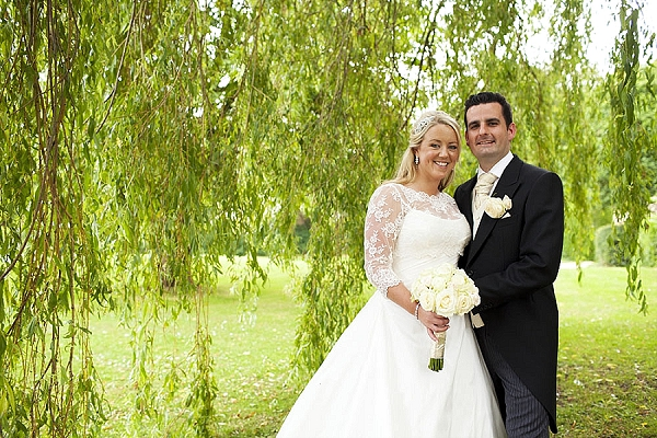 orton on the hill marquee wedding white rose bridal bouquets
