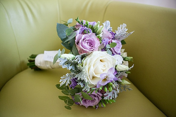 purple wedding bouquet bridal bouquet purple roses grey duisty millar white roses lisianthus Passion  for Flowers Florists