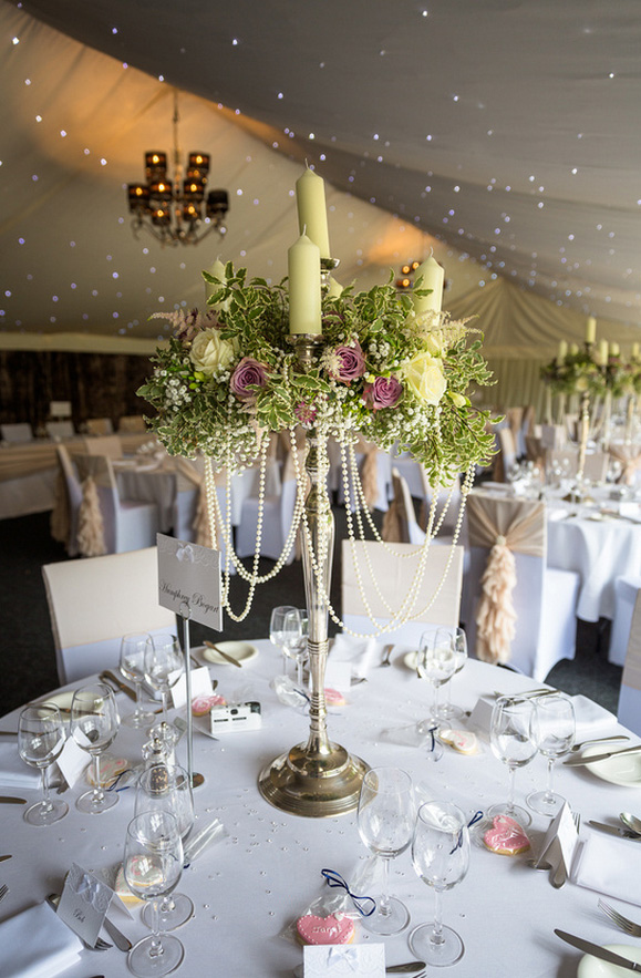 Candelabra centrepieces hogarths hotel passion for flowers
