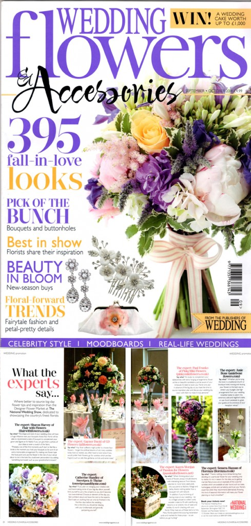 karen morgan passion for flowers featured in wedding flowers magazine
