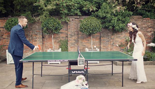 outdoor weding games table tennis shustoke farm barns summer wedding florist passion for flowers