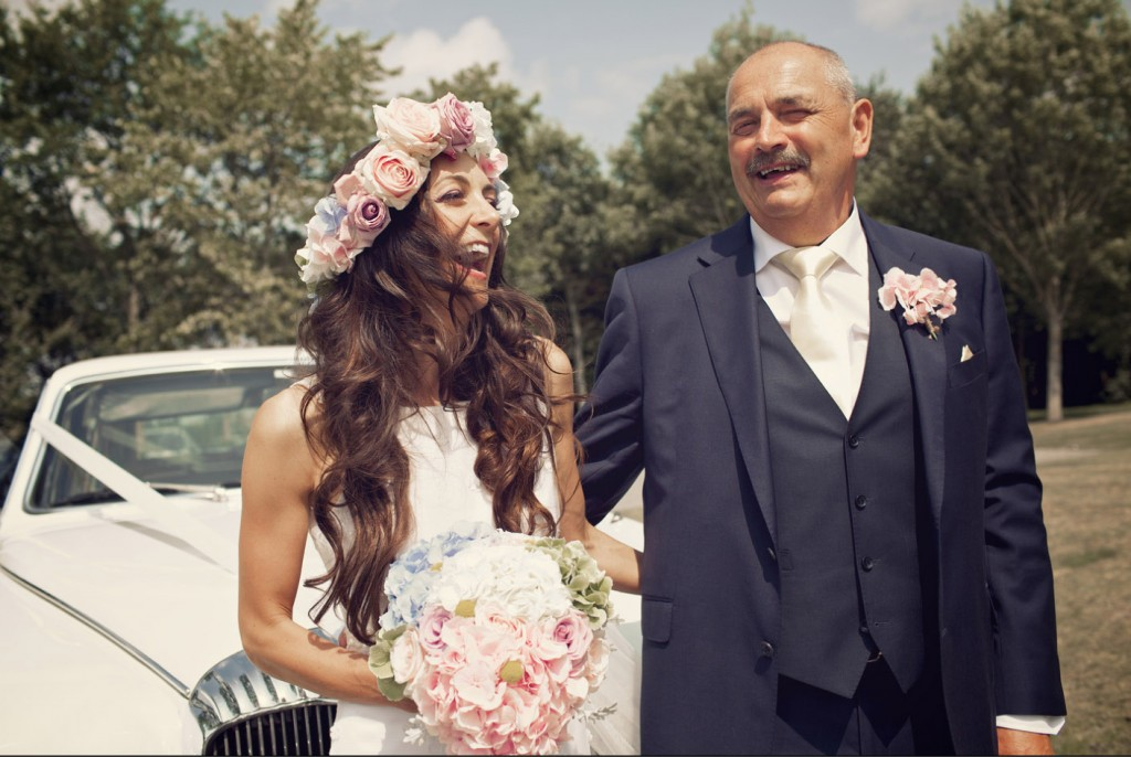 pink blue green flower crowns shustoke farm barns summer wedding florist passion for flowers