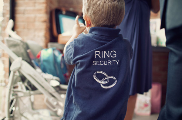 ring security t shirt for young ring bearers