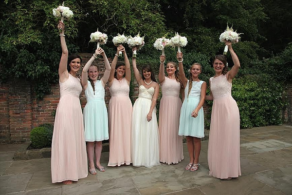 shustoke farm barns wedding flowers passion for flowers bridesmaids bouquets pastel colours