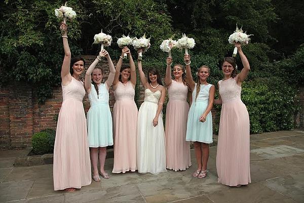 shustoke farm barns wedding flowers passion for flowers bridesmaids bouquets pastel colours